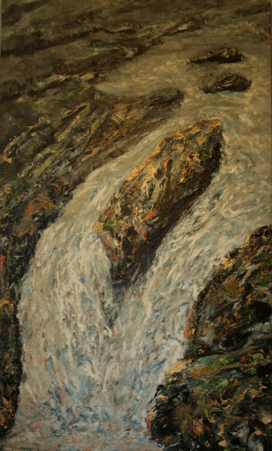 Above the falls Ness Woods 900x1500