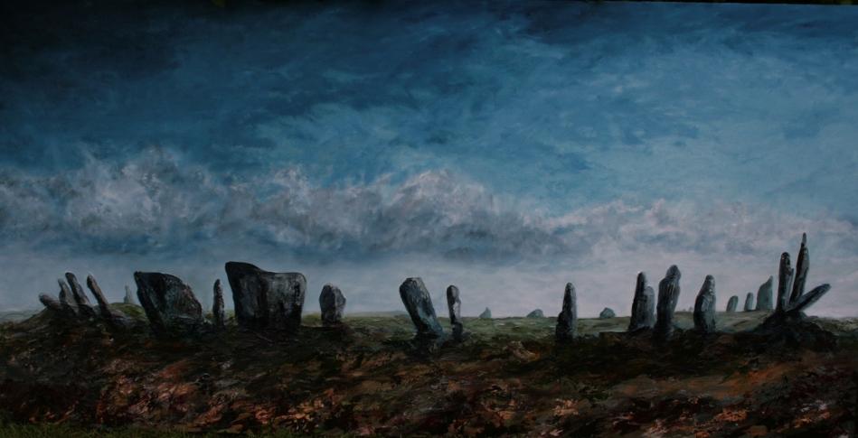 Dusk Beltany Stone Circle 1800x900
